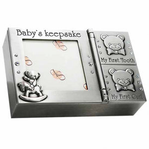 Pewter Baby Keepsake Trinket Box
