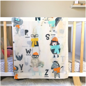 Di Lusso ABCD Alphabets Muslin Swaddle
