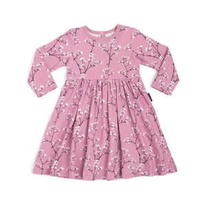 Aster & Oak Baby's Breath LS Flare Dress