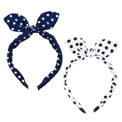 Polka Dot Wired Ears Headband