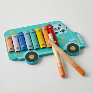 Wooden Xylophone Happy Bus