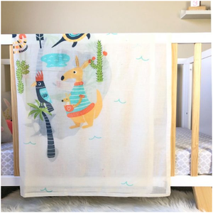 Aussie Animal Kingdom Muslin Swaddle