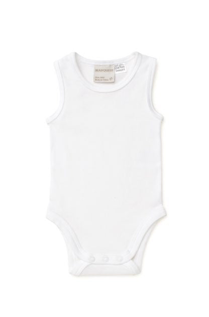 Marquise 2 Pack Sleeveless Bodysuit - White