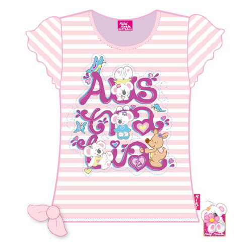 Girls Pink Australia T-Shirt