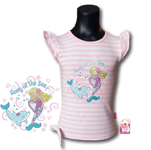 Girls Pink Song of the Sea Cotton T-Shirt