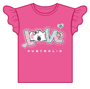 Kiki Koala Love Cotton T-Shirt