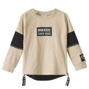 Cracked Soda : Dexter Long Sleeve Tee - Tan