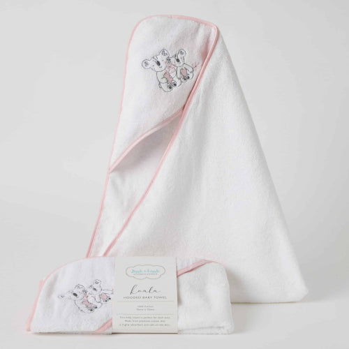 Kayla Koala Pink Hooded Towel
