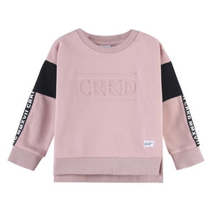 Cracked Soda : Ash Embossed Crew Pink