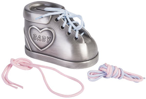 Pewter Baby Shoe Money Box