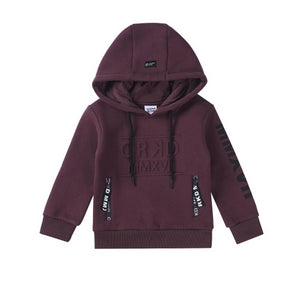 Cracked Soda : Play Hard Embossed Hoodie - Plum