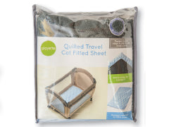 Quilted Travel Cot Sheet