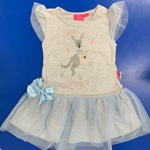 Kangaroo Dress Melange Grey