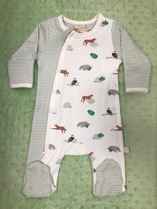 Tiny Twig Side Zip Growsuit with Feet