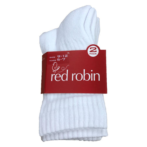 Red Robin White Stretch sport socks 2-8 2 pack