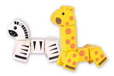 Discoveroo: Snap Blocks Giraffe and Zebra