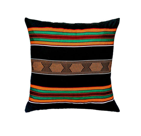kente cloth floor pillow