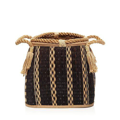 Noir Wicker Basket