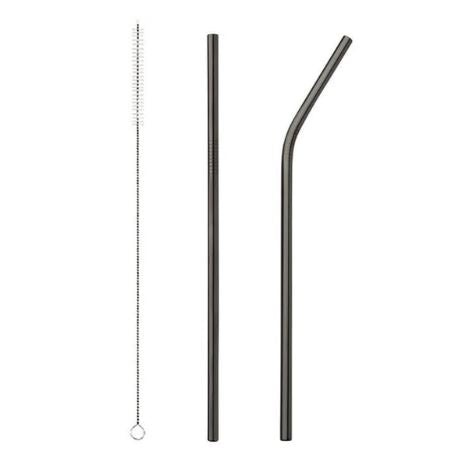 Reusable Stainless Steel Straws - Effortless Composition