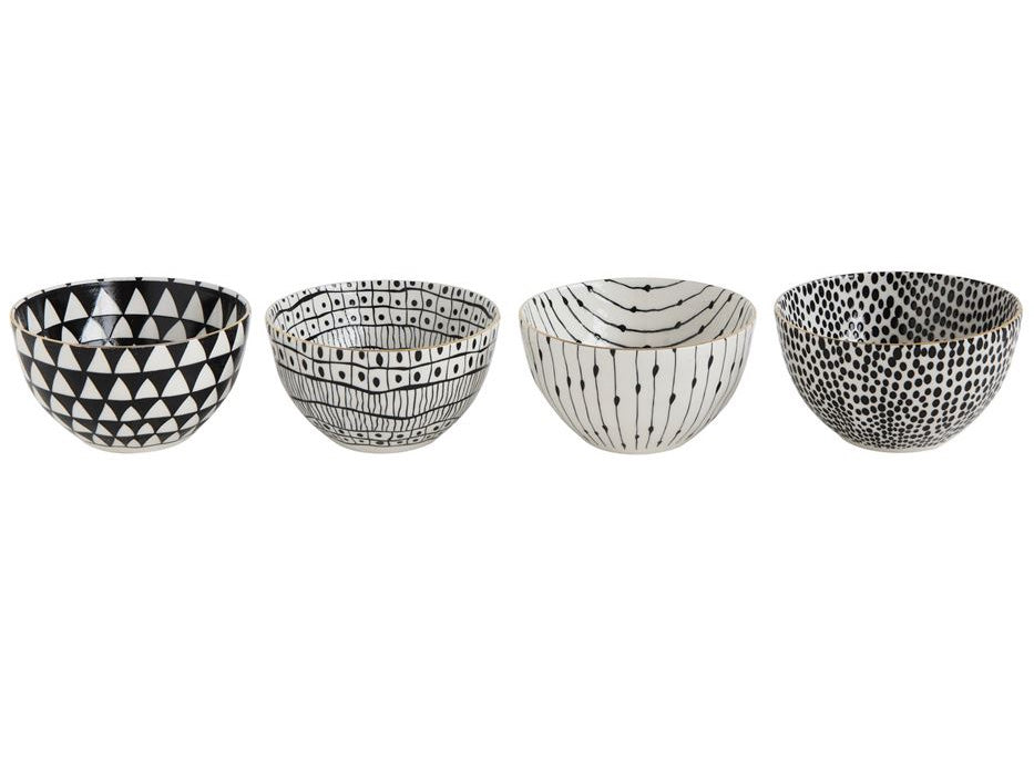 Black and White Stoneware Set (4 pc) - Effortless Composition