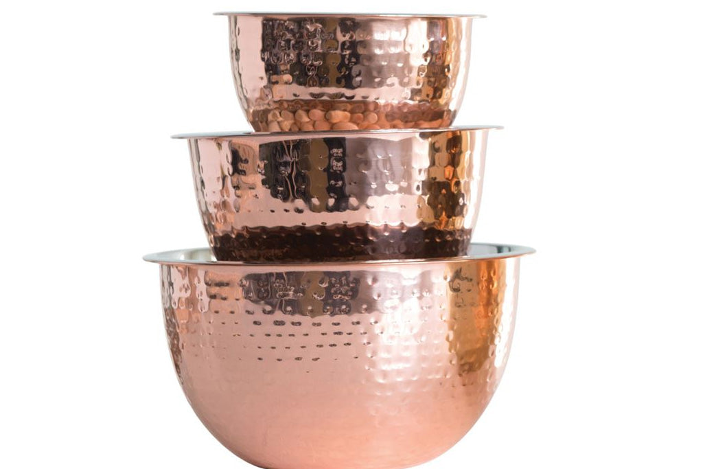 Stainless Steel Mixing Bowls- Copper Finish - Effortless Composition