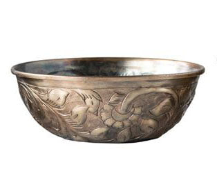 Engraved Gold Bowl
