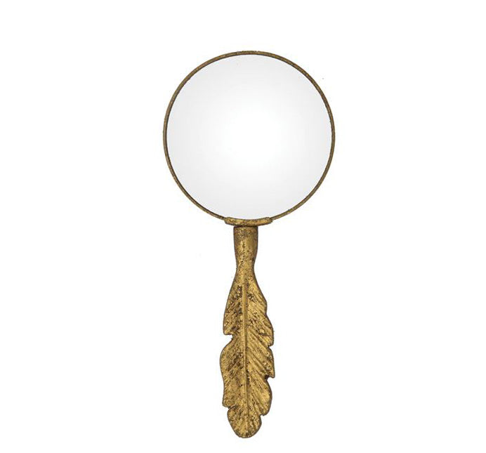 Gold Feather Magnifying Glass - Effortless Composition