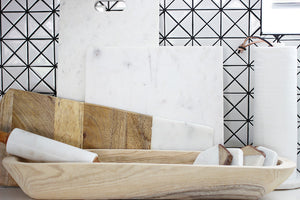 Marble & Wood Cutting Board - Effortless Composition