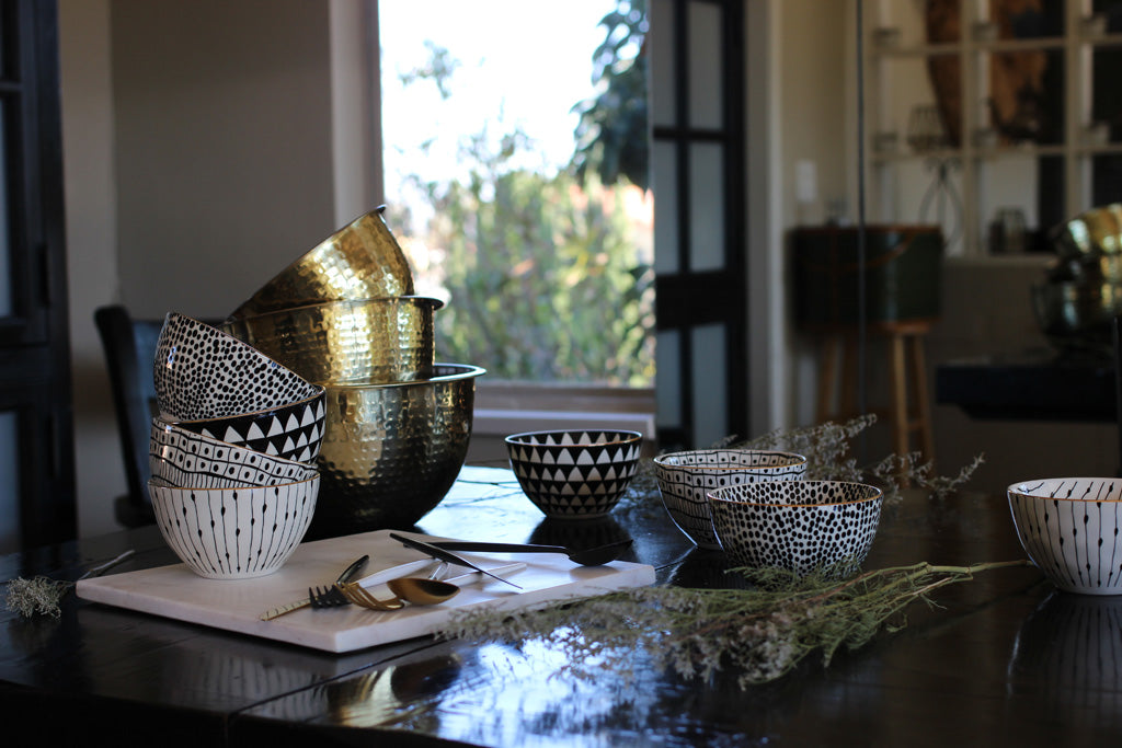 Stainless Steel Mixing Bowls- Gold Finish - Effortless Composition