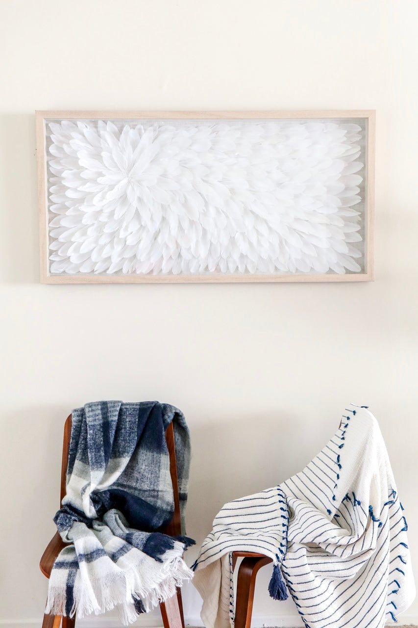 Blue Hues Mohair Throw Blanket - Effortless Composition