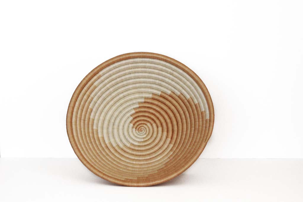 Woven Tea Swirl Basket - Effortless Composition