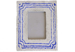Tori Cement Frame Blue/White - Effortless Composition