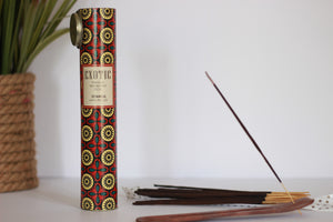 incense with tube and incense holder- scents include Istanbul, rose, vanilla