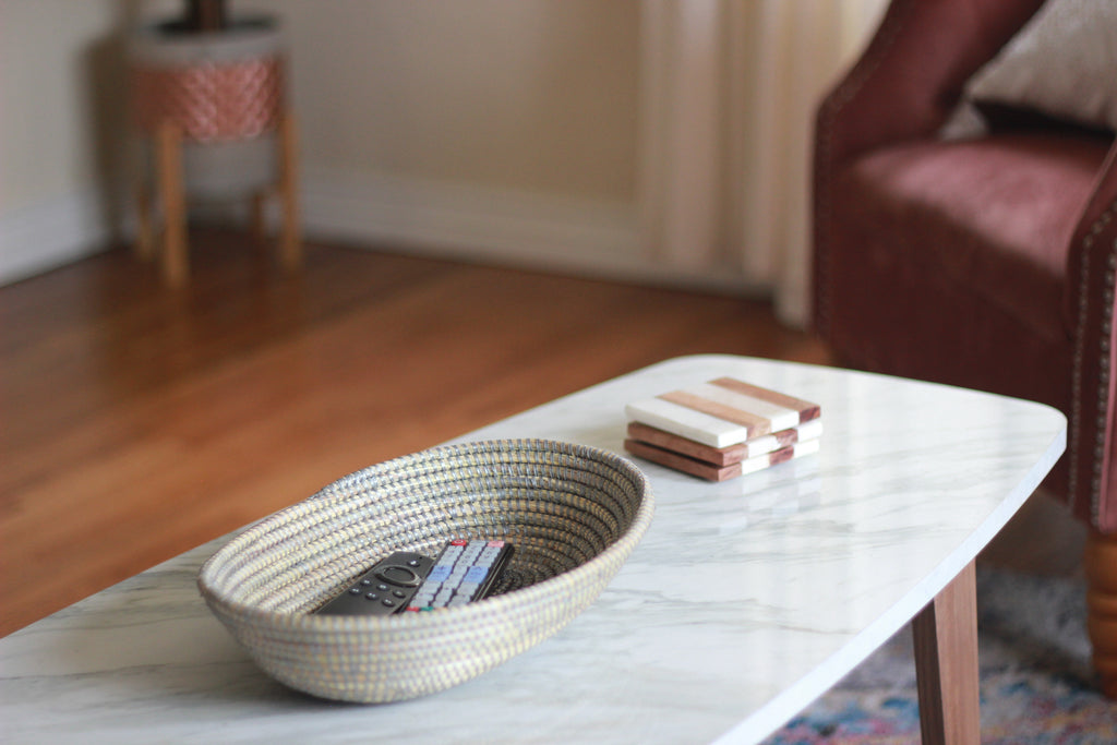 Silver Woven Bowl - Effortless Composition