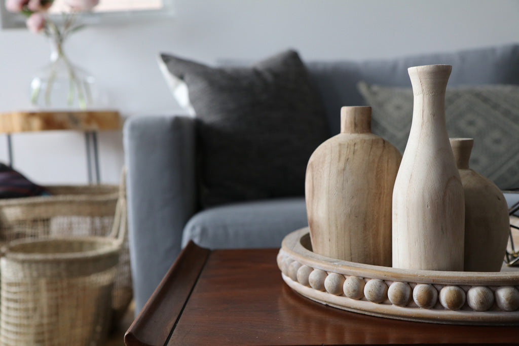 Dustin Wooden Vase Set