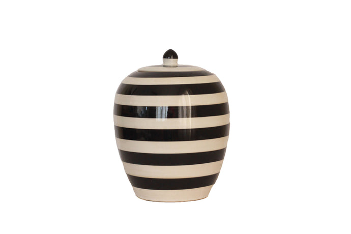 Black and White Stripe Vase