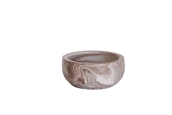 mauve ceramic swirl bowl