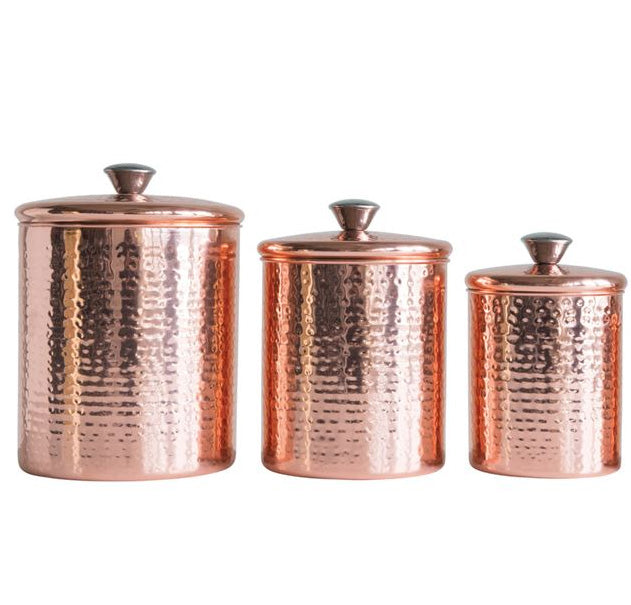 Stainless Steel Canister- Copper Finish - Effortless Composition