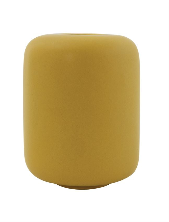 Matte Yellow Vase - Effortless Composition