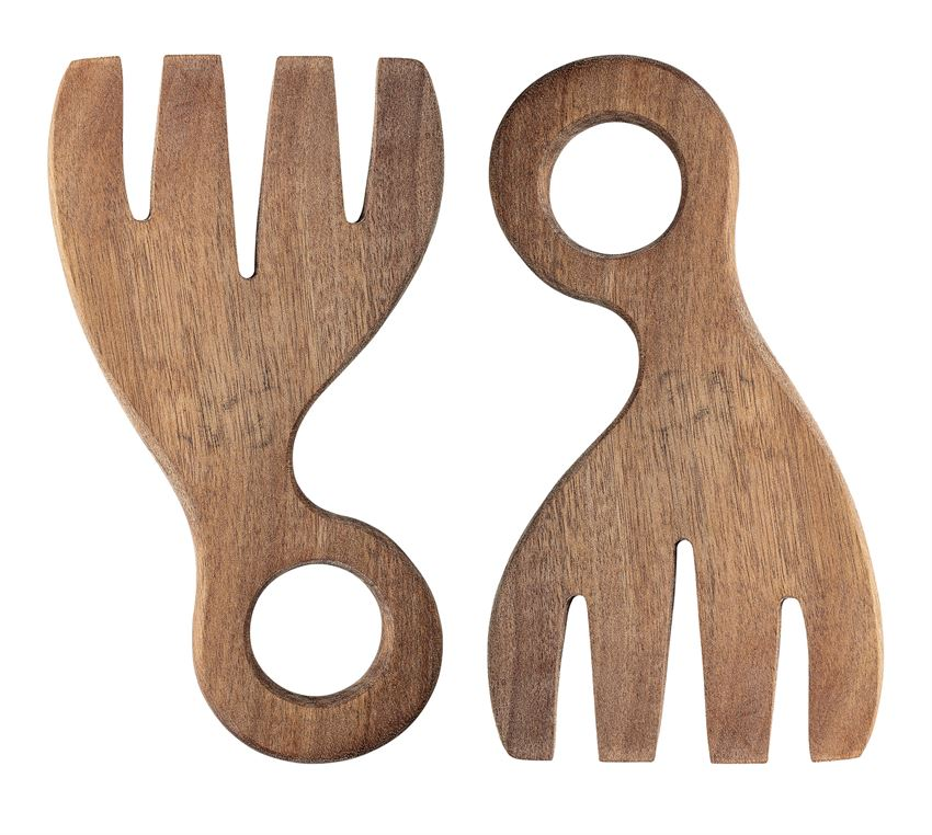 Circle Wood Salad Servers (Set of 2)