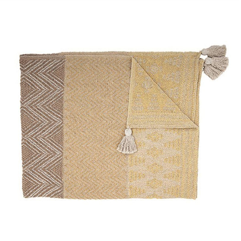 Sunset Woven Cotton Throw - Effortless Composition