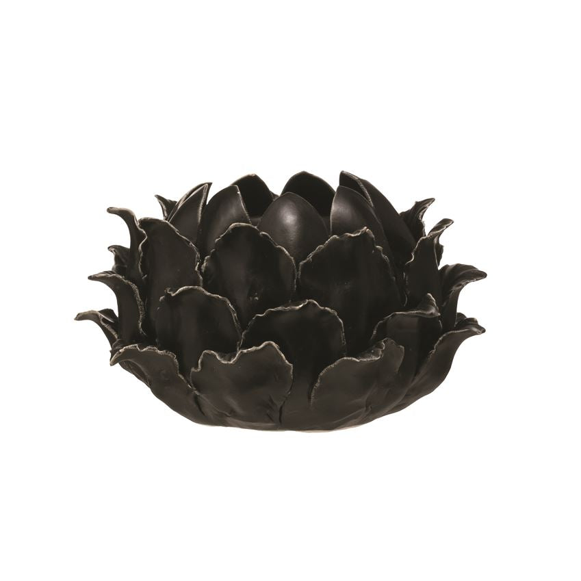 Black Flower Candle Holder