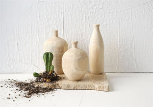 Dustin Wooden Vase Set - Effortless Composition