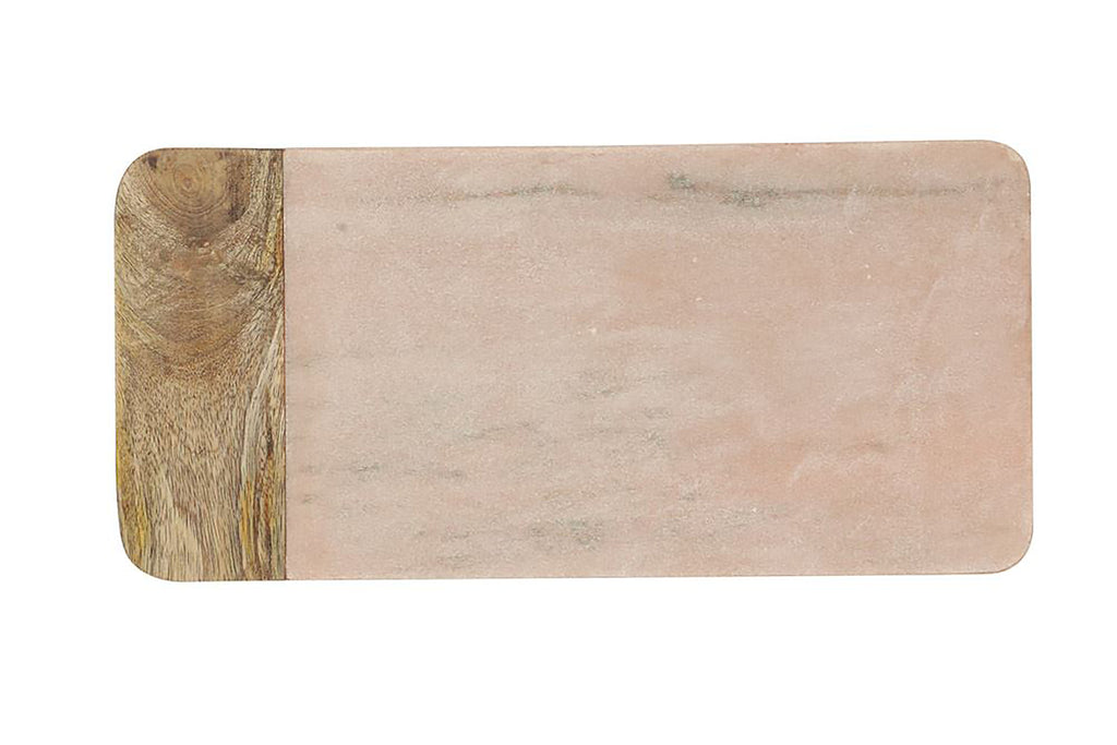 pink and marble cutting board