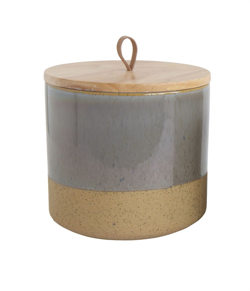 Two Tone Ceramic Canister - Effortless Composition