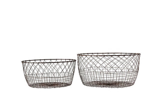 Jackie Wire Storage Baskets (Set of 2) - Effortless Composition