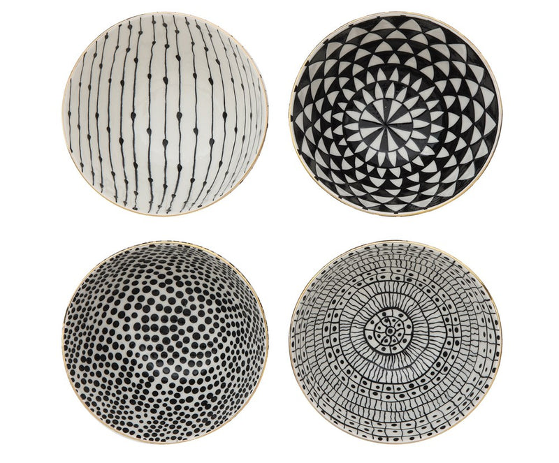 Black and White Stoneware Bowls