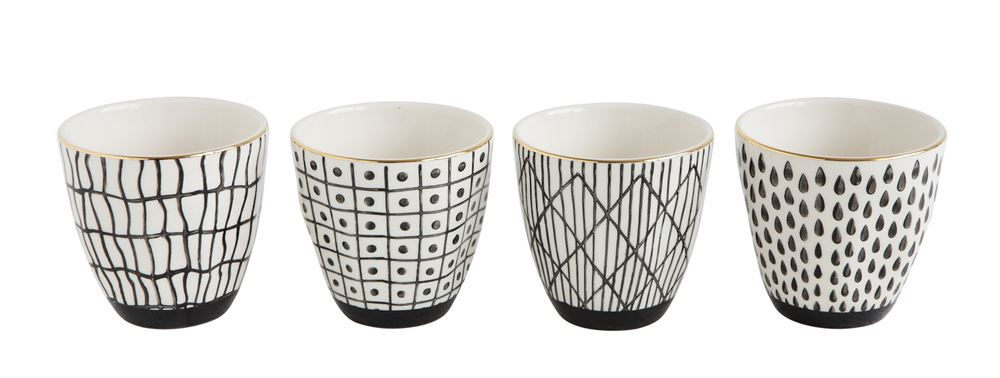 Black and White Stoneware Cups - Effortless Composition