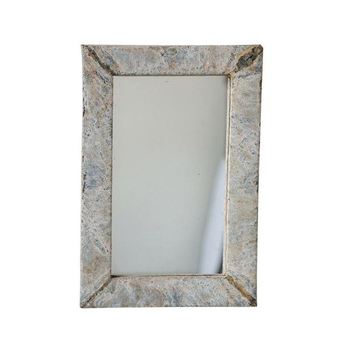 Distressed Wall Mirror - Effortless Composition