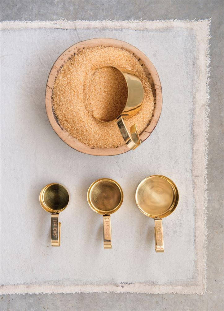 Gold Measuring Cups - Effortless Composition